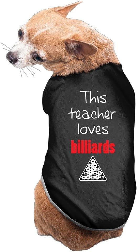 DH & GF este profesor Loves billar Outfit Abrigo para perro nuevo ...
