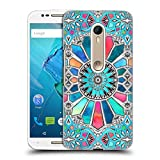 Official Micklyn Le Feuvre Iridescent Watercolour Brights On White Patterns 3 Hard Back Case for Motorola Moto X Style / Pure