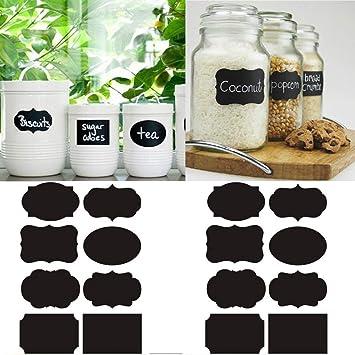 Clear Transparent PVC Stickers 112 Pcs Waterproof Reusable Label Set Kitchen NEW Huis