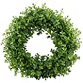 "GTidea 16-17"" Artificial Eucalyptus Wreath Spring Front Door Wreath Greenery Garland Home Office Wall Wedding Decor"