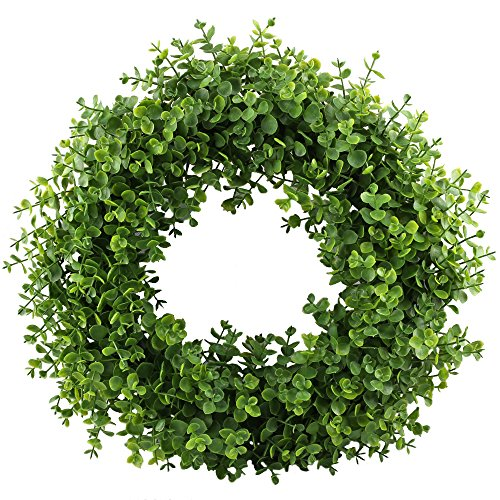 GTIDEA 16-17'' Artificial Eucalyptus Wreath Spring Front Door Wreath Greenery Garland Home Office Wall Wedding Decor by GTIDEA