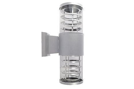 Applique esterno union lampada grigia luce parete plafoniera