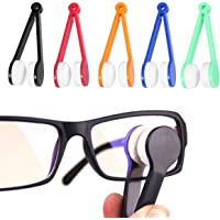 SUPVOX Eyeglass Cleaner Brush Microfiber Spectacles Portable Cleaning Tool 12pcs (Random Color)