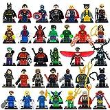 34pcs/lot Marvel DC Super Heroes Minifigures Avengers Iron Man Batman Building Blocks Sets Model Bricks Toys
