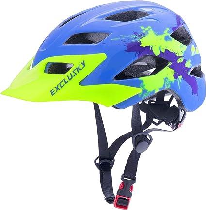 Exclusky Casco Bicicleta Niños Casco Infantil para BMX, Patinaje, Ciclismo, Monopatín, Scooter - Tamaño 50-57cm (Edades 5-13) (Azul Claro): Amazon.es: Deportes y aire libre