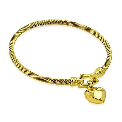 Gold Farbe vergoldet Edelstahl Keltischer Verdrehte Kabel Draht Love ...
