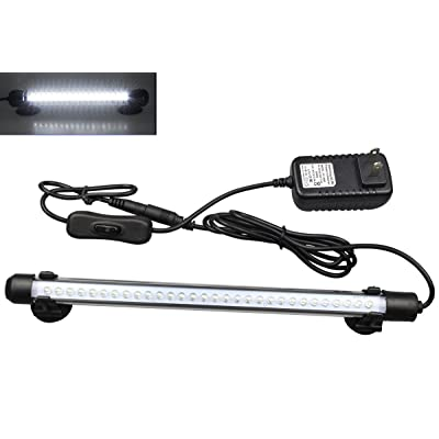 Mingdak LED Aquarium Light, Submersible Crystal Glass Lights