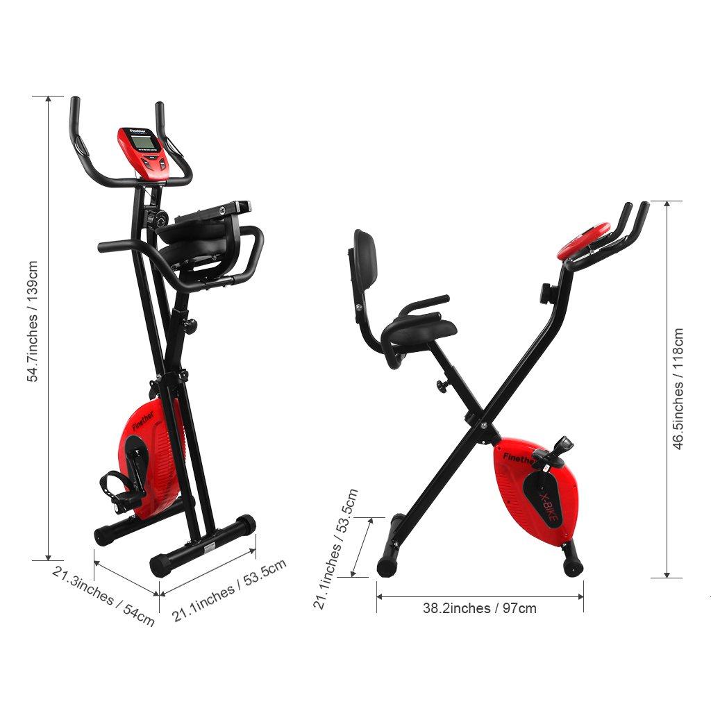 Ripiegabile Finether Cyclette Magnetica Trainer da Casa F-Bike con Sensori delle Pulsazioni