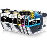 LxTek Compatible para Brother LC3219 XL Cartuchos de Tinta para Brother MFC-J5330DW MFC-J5335DW MFC-J5730DW MFC-J5930DW MFC-J6530DW MFC-J6930DW MFC-J6935DW (2 Negro, 1 Cian, 1 Magenta, 1 Amarillo)