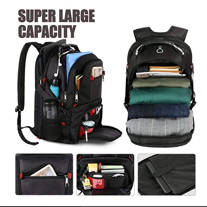 Amazon.com: Backpack Travel Laptop, Extra Large College for Men and Women with USB Charging Port Waterproof Big Business Computer Bag Suitable for 17 inch ...