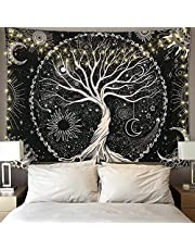KHOYIME Mountain Tapestry Black and White Tapestry Wall Hanging Mandala Bohemian Black Wall Tapestry for Bedroom,Dorm, Wall Fabric Art Home Decor