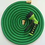 Expandable-50ft-Garden-Water-Hose-by-JFSG-Outdoor-2016-Strong-Brass-Connections-Free-7-Pattern-Spray-Nozzle-Flexible-Triple-Layer-Latex-similiar-to-Pocket-Hose-As-Seen-On-Tv