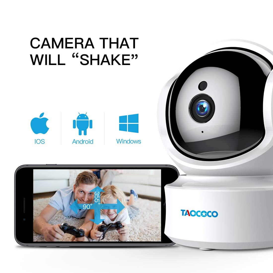 Baby Monitor Camera, Taococo IP Camera Wireless 1080P HD Home Security Camera for Baby Elder Pet Dog Monitor with Pan/Tilt Two-Way Audio,Night Vision,Motion Detection and Phone App Remote Control by FREDI (Image #2)
