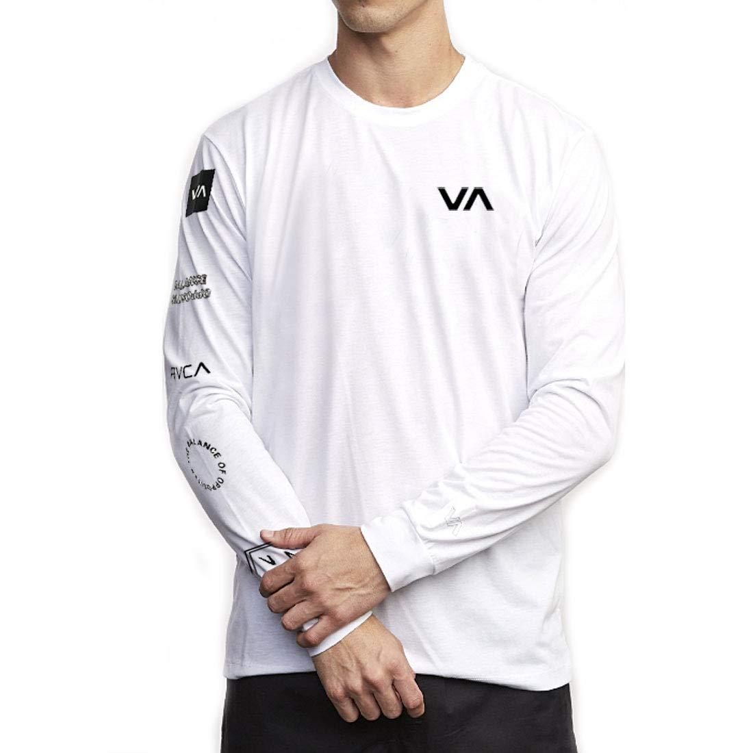 RVCA Mens Long Sleeve Crew Neck T-Shirt