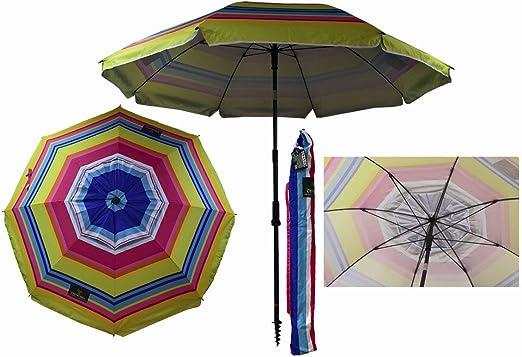 Sombrilla Crevicosta - Sombrilla con espiral, aluminio reforzado, diseño Multicolor, 200 cm de diámetro de parasol: Amazon.es: Jardín