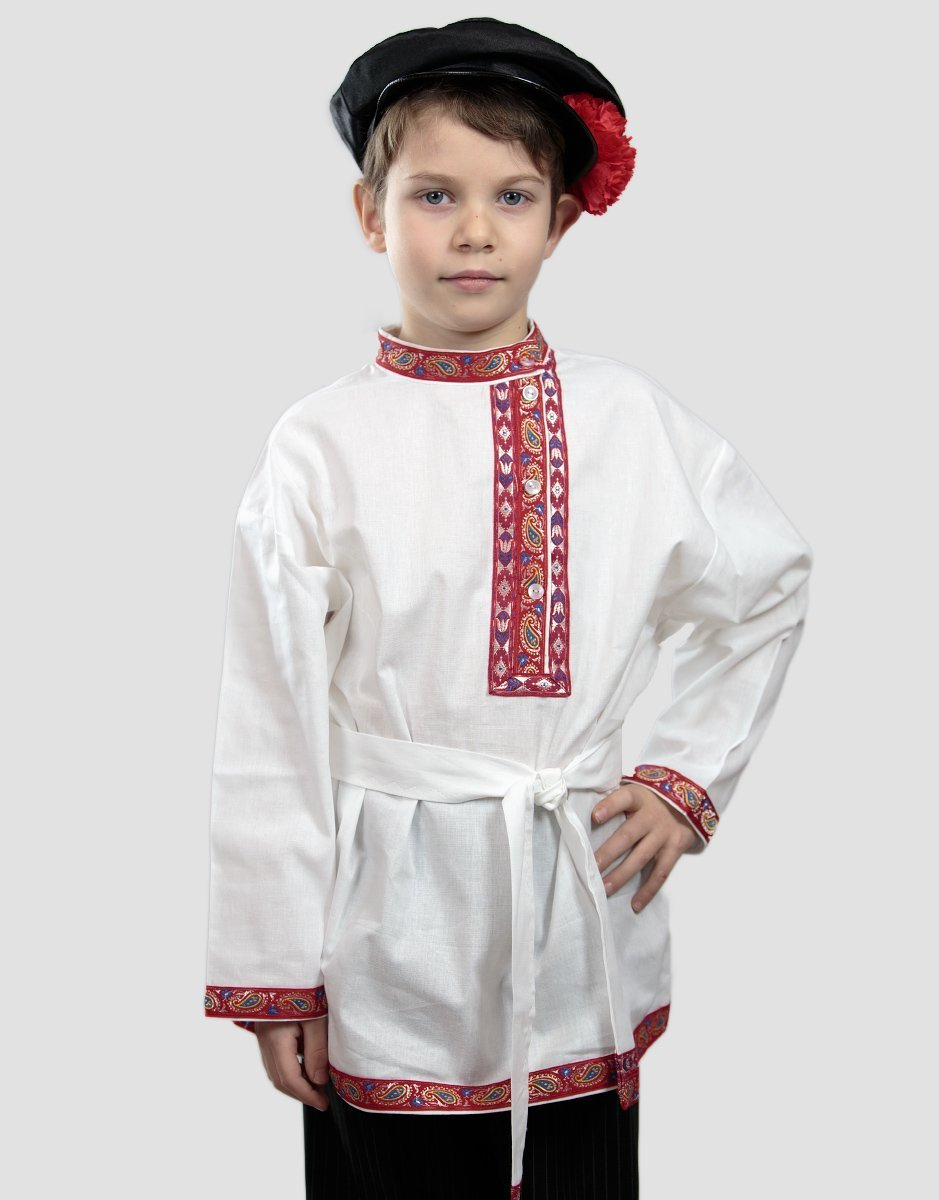 Russian shirt boys kosovorotka traditional wear peasant shirt