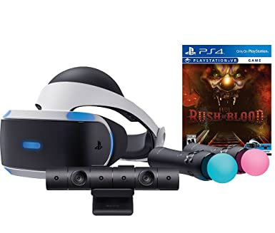 Amazon com: Sony PlayStation VR Rush of Blood Starter Bundle