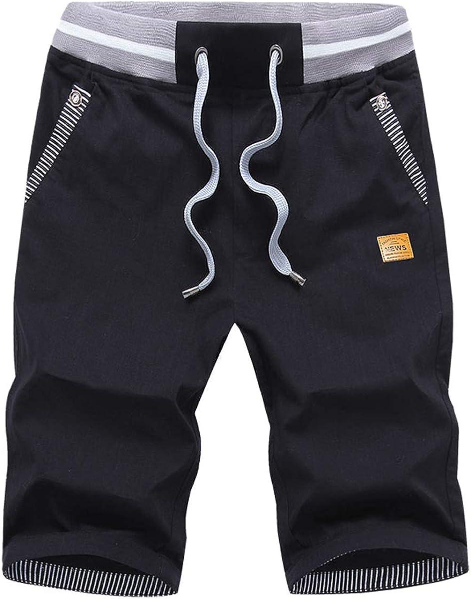 VEKDONE Mens Casual Shorts Elastic Waist Outdoor Comfy Workout Shorts Big and Tall Summer Beach Shorts Swimming Shorts