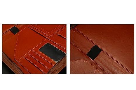 Libreta A4 con calculadora y Cremallera Muchos Bolsillos Documentos comerciales multipropósito Carpeta de Conferencia Portafolio Organización de Archivos ...