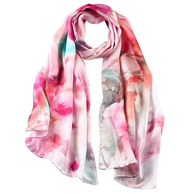 STORY OF SHANGHAI mujer bufanda Mulberry seda bufanda cuadrada grande Envolturas de seda pura