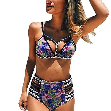 e1b17406f89f Mymyguoe Bikini Cintura Alta de Estilo étnico Bañadores Bikinis de Mujer  Traje de baño Biquinis Mujeres 2019 brasileños Push Up Bañadores de  Natacion ...