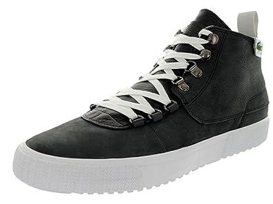 6a64be1e5 Lacoste Men s Bruton Al Lem Black Casual Shoe 10 Men US  Amazon.co ...