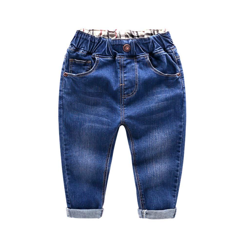 EFSJNSPT Boys Jeans Pants Kids Baby Boys Trousers Girls Jeans Toddler Denim Pants Jean Infant