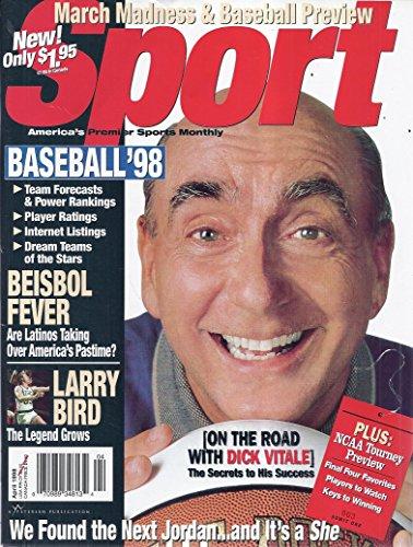 Larry Bird Cover - Sport Magazine (April 1998 - Cover: Dick Vitale)