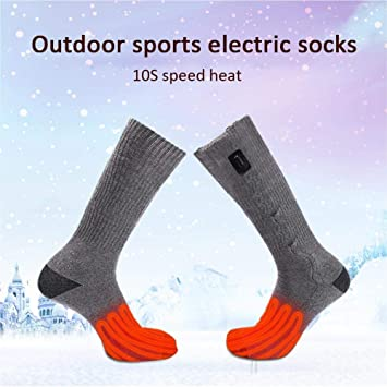 USB eléctrica - Calcetines térmicos chauffées a pilas pies calefacción calderas patas trasera Zone de ambiente calcetines térmicos para deportes de Plein ...