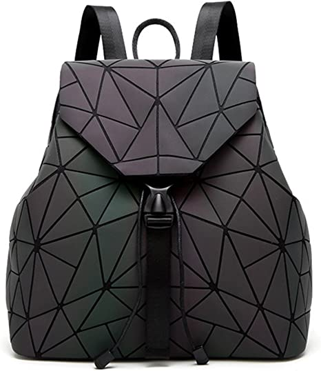 Style-01 KAXIDY Sac /à Dos Cartable G/éom/étrique Lumineux Rhombe Laser Sequins Sacs /à Dos Loisir