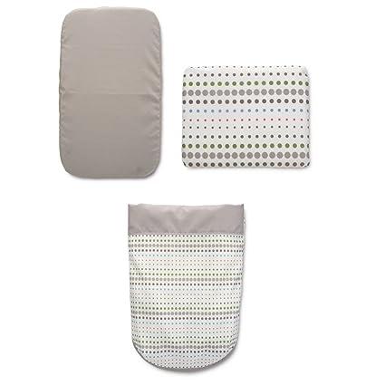 Chicco 4079360960000 - Juego de sábanas para cuna, color blanco