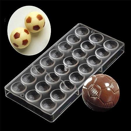 24 agujeros diseño de balón de fútbol con policarbonato Chocolate ...