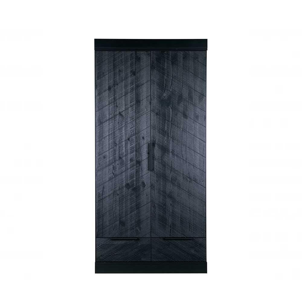 schlafzimmer kleiderschrank in schwarz kiefer teilmassiv. Black Bedroom Furniture Sets. Home Design Ideas