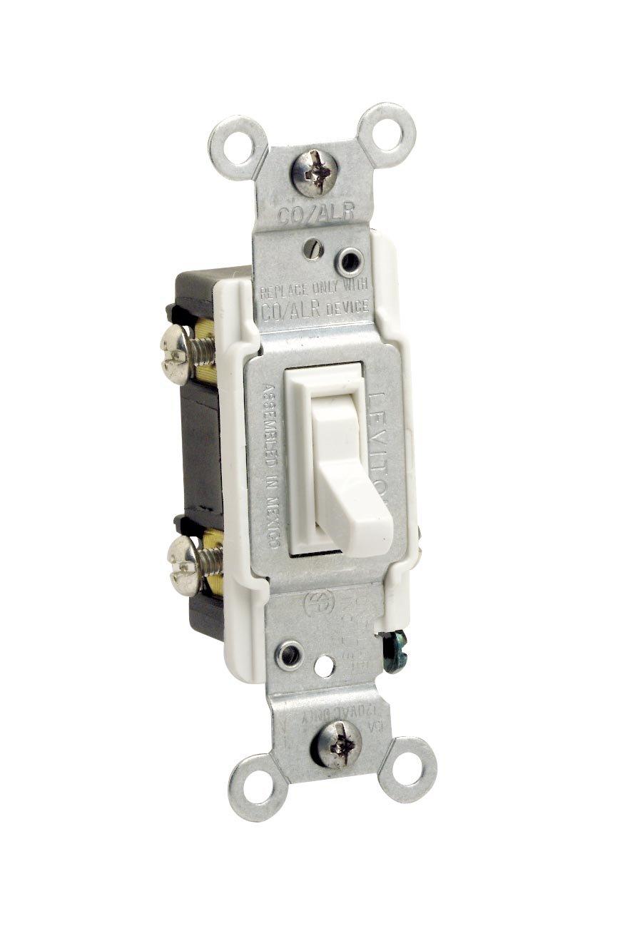 Leviton 2653-2W 15 Amp, 120 Volt, Toggle Co/Alr 3-Way AC Quiet ...