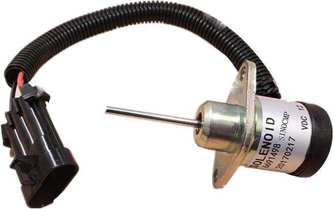 NEW Fuel Shut Off Solenoid for Kubota Bobcat S185 Skid Steer 1503ES-12A5UC4S