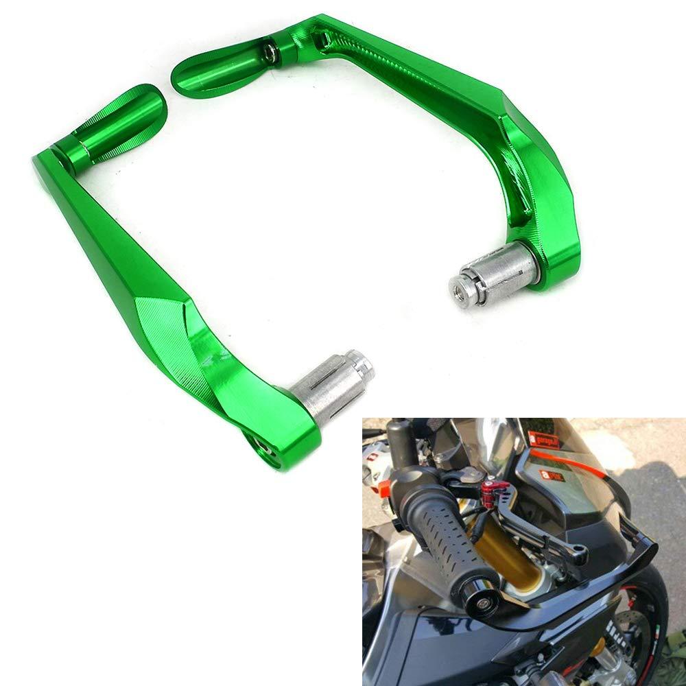 3D verde Paramani leve freno frizione Protector 7//20,3 cm universale Paramani manubrio per pi/ù sport Street motorcycle motocross Dirt Pit Bike Kawasaki KX125 KX250 KX250 F KX450 F KLX250