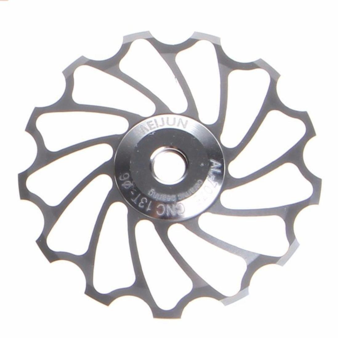 Y56 aleación de aluminio rueda Jockey cambio trasero polea guía rodillo de cojinete de cerámica correa de distribución 13T para bicicleta de montaña ...
