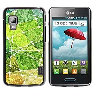 Paccase / SLIM PC / Aliminium Casa Carcasa Funda Case Cover para - Leaf Green Nature Painting Abstract - LG Optimus L5 II Dual E455 E460