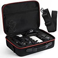 Kuuqa EVA Hardshell Handbag Carrying Case with Belt for Dji Spark Drone Body and Accessories (Dji Spark Not Included)
