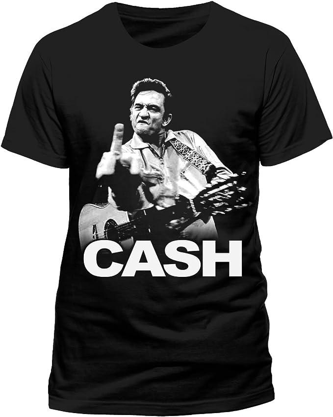 FANPAC Johnny Cash - Finger Camiseta para Hombre