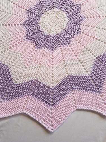 Multicolor Starburst Baby Afghan, Security Blanket, Crochet blanket, Baby Shower Gift, Baby gift, Photo Prop, Nursery blanket, baby, baby girl, newborn, toddler - Made to Order by The Crafty Little B