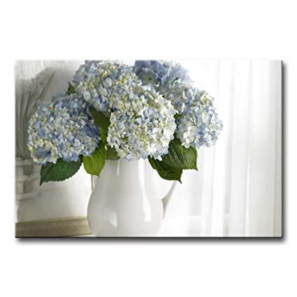 Amazon So Crazy Art Wall Art Painting Hydrangea In White Vase