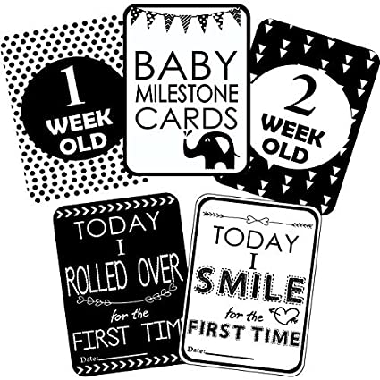 7b560947efc Syga Baby Milestone Cards - Set Of 27  Amazon.in  Toys   Games