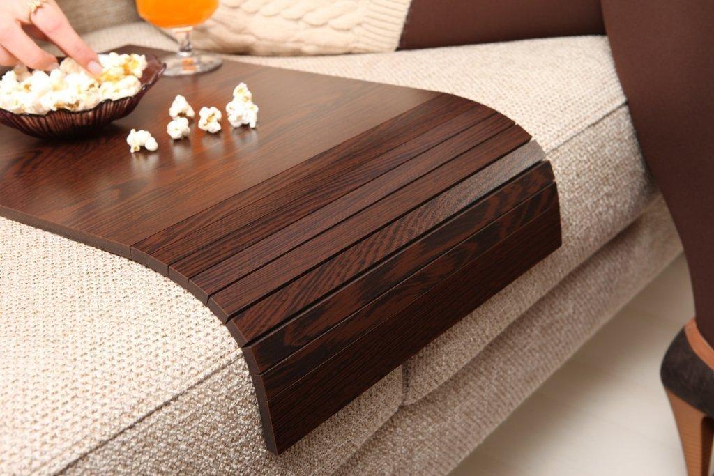 Sofa Tray Table - Long (Tropical Wenge), Sofa Arm Tray, Armrest Tray, Sofa Arm Table, Couch Tray, Coffee Table, Sofa Table,Wood Tray,Wood Gifts