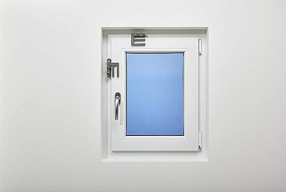 Scheffinger EM3 - Embellecedor adicional para asegurar ventanas y puertas de hoja doble sin barra central, protección antirrobos con certificación DIN, ...