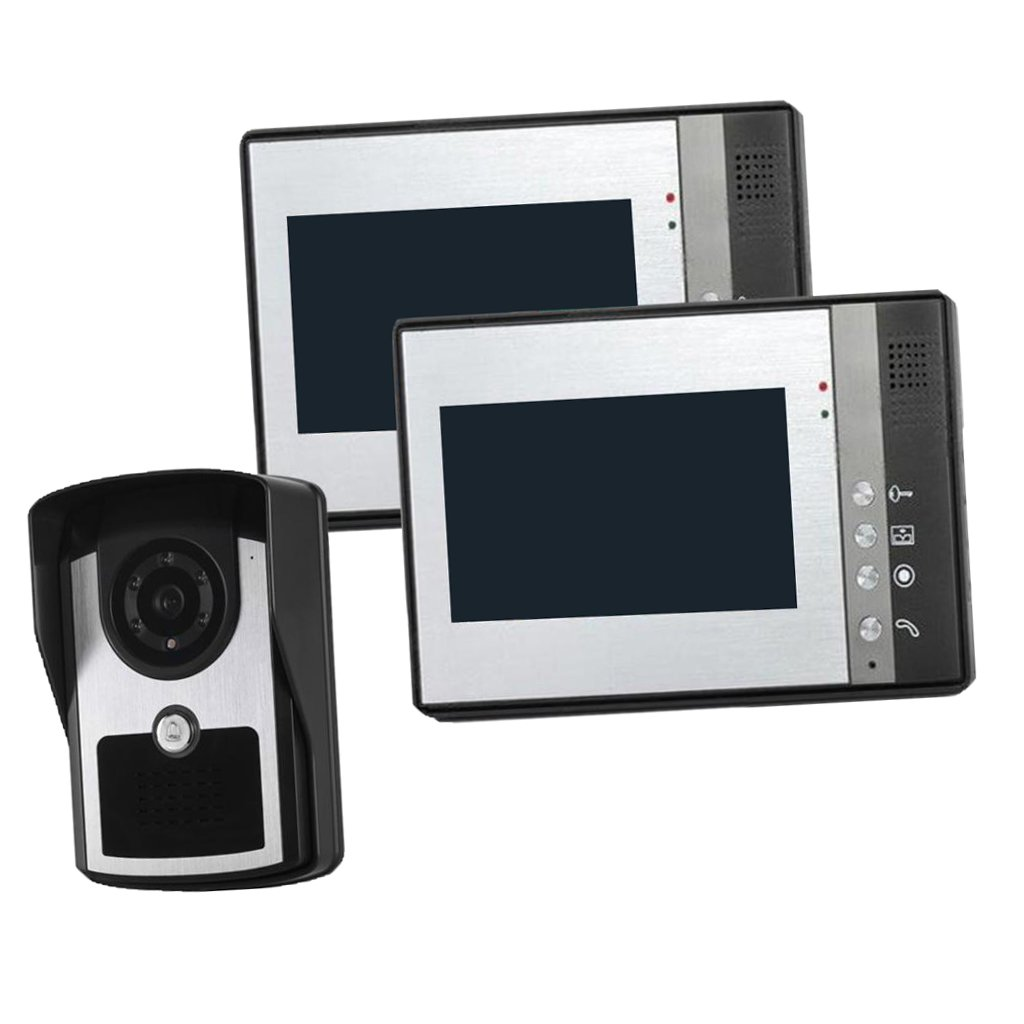 MonkeyJack 7 inch Color LCD Wired Video Door Phone Doorbell Home Entry Intercom System Kit 2 Monitor 1 Camera Night Vision by MonkeyJack (Image #9)