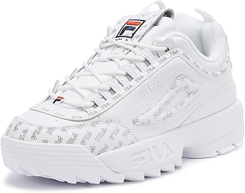Fila Disruptor II Multi Flag Femmes Blanc Basket UK 4 EU