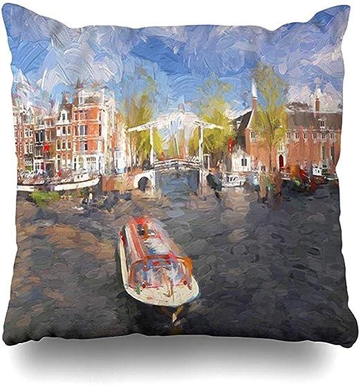 Cojines del sofá Cepillo Amstel Amsterdam City Holanda Pintura ...