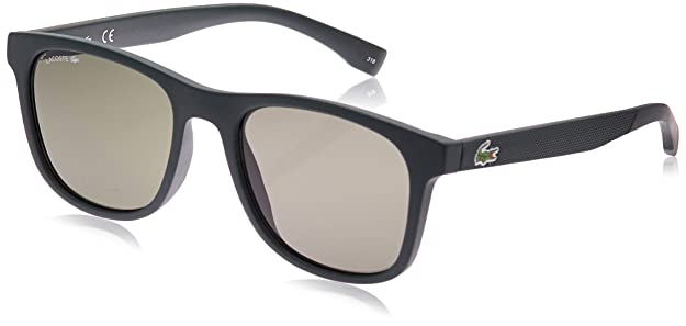 Lacoste Mens L884s L884S-315 Rectangular Sunglasses, MATTE GREEN, 53.11 mm