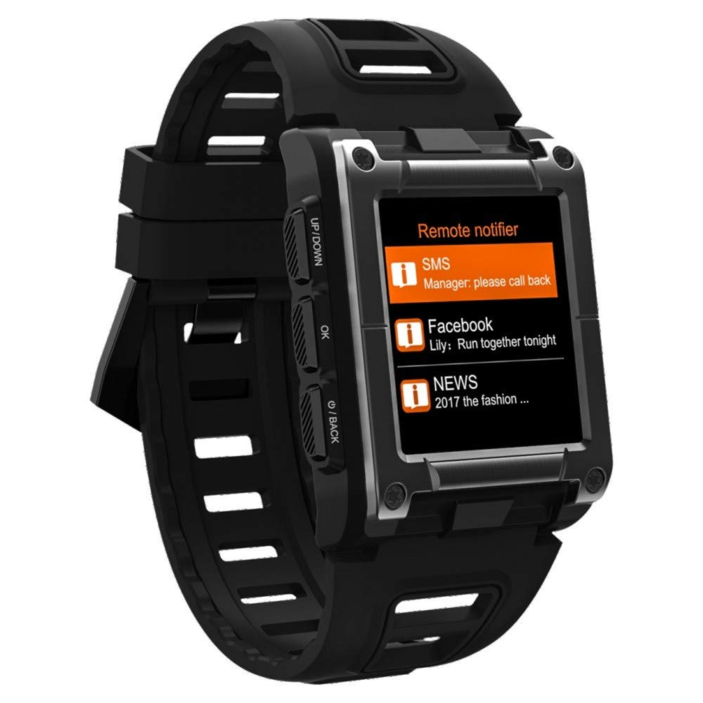 Lovewe Professional IP68 Waterproof Swimming Smart Watch Fitness Tracker Bluetooth GPS Wristband Colorful UI (Black) by Lovewe_Smart Watch (Image #7)